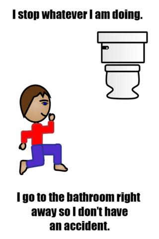 Boy potty toilet training social story autism