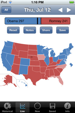 MSN Presidential Election Map 2012
