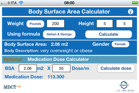 Download Body Surface Area Calculator iPhone iPad iOS