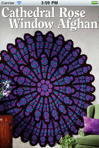 Cathedral Rose Window Crochet Pattern Crochet Patterns Only