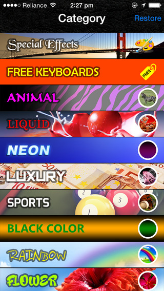 Effects Color Keyboards HD smartphones with keyboards