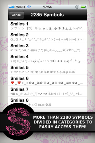 Special Symbols for Facebook, Twitter, Texts & Email: Glam Edition