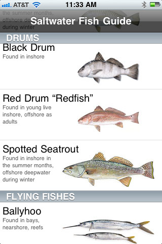 Florida saltwater fish guide app for ipad iphone sports for Florida fish size limits