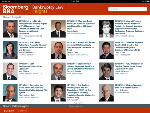 Bloomberg BNA Bankruptcy Law Insights