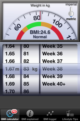 weight and bmi tracker
