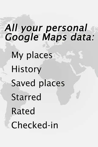 My Place for Google Map : Visit My places , starred data in your Google Maps account