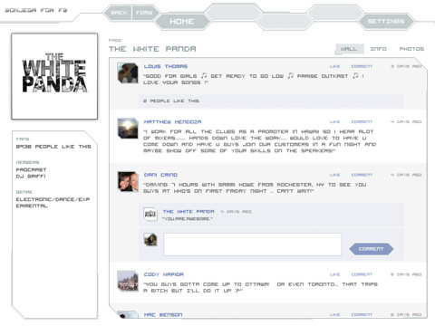 Bonjega For Facebook: A Unique Facebook Interface