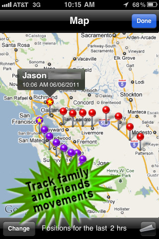 Family Tracker (Follow family/friends with your phone)