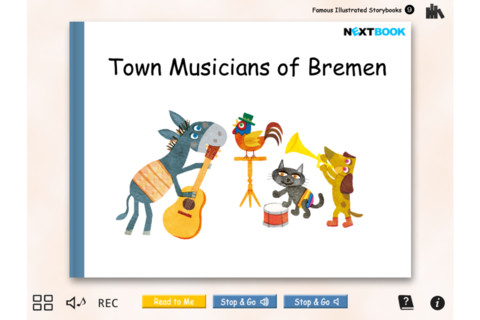 """Town Musicians of Bremen"" Famous Illustrated Storybooks 9 famous musicians"