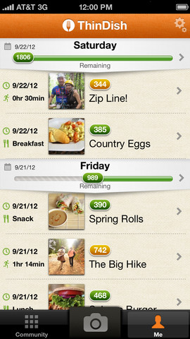 Photo Calorie Counter & Visual Diet Tracker From ThinDish