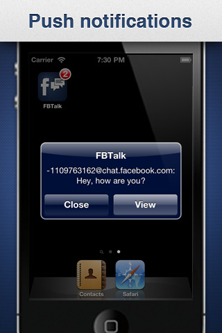 FaceBook Talk for iPhone + PUSH (Facebook chat ...