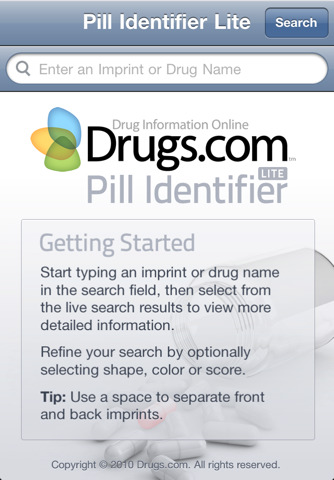 Pill Identifier Lite by Drugs