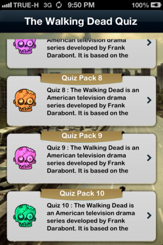 iQuiz for The Walking Dead  ( Trivia TV series )