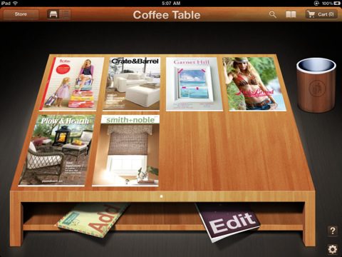 Coffee Table - Catalog Shopping for iPad coffee table