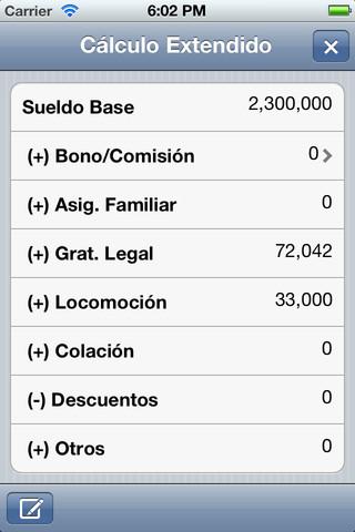 calculo sueldo bruto: