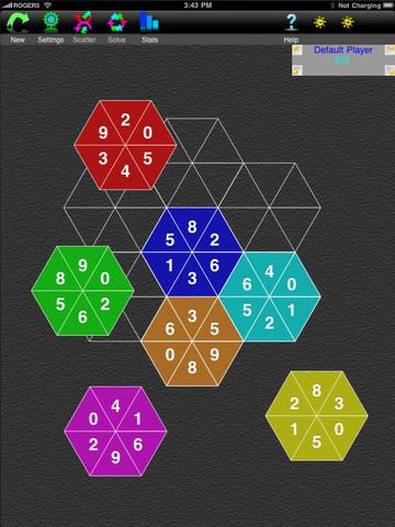 Puzzler-I Hexagon Hitch Brain Puzzle Games Hexagon Tiles