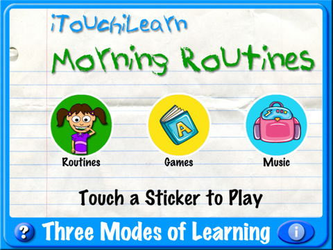 Itouchilearn musical morning routines for toddler and preschool kids