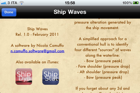Naval Architecture on Shipwaves Naval Architecture Tool 1 0 App For Ipad  Iphone   Education