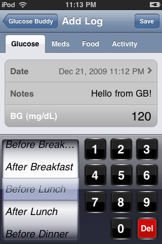 Glucose Buddy - Diabetes Helper 3.4 w/BP + WT Tracking