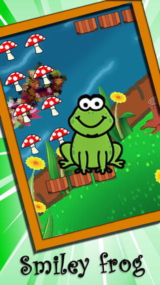 AAA jumping frog adventure :Catching Smashy Mushrooms,The hero of streams,ponds,lakes,Smiley frog lakes rivers streams