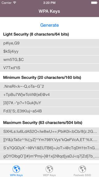 Keys for your router - WPA/WEP keys islands in fl keys