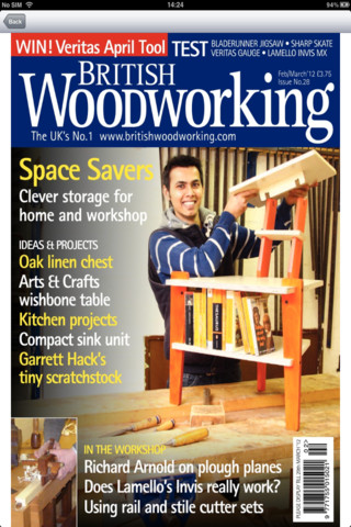 British Woodworking Magazine App for iPad - iPhone