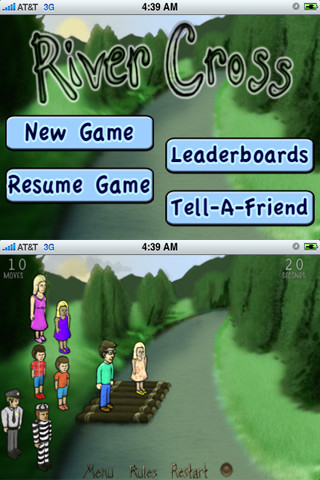 River Cross Logic Puzzle Game