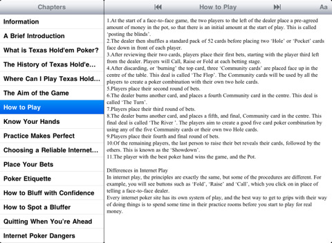 rules of texas holdem poker