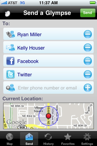 Glympse - Location Sharing Made Simple