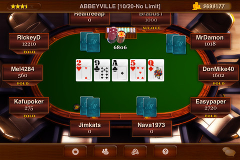 Check and call poker