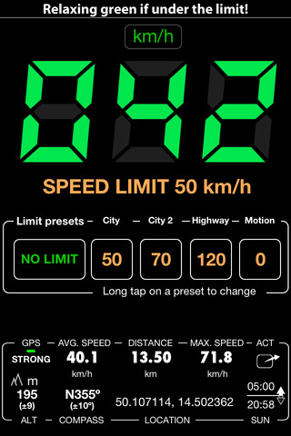 Speedometer Speed Limit Alert and Safety Master. Digital Pro Edition.