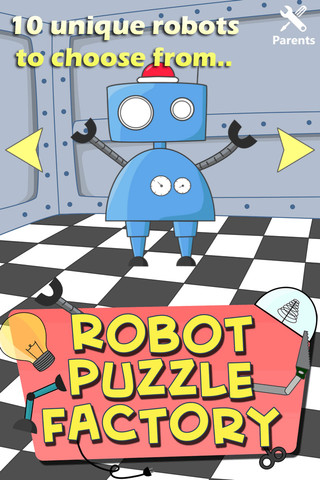 Robot Puzzle Factory for kids and toddlers factory automation robot