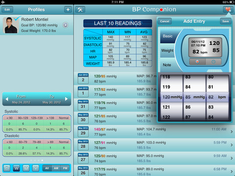 Blood Pressure Companion Free for iPad