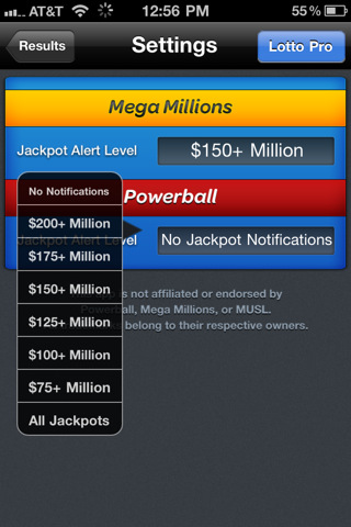 Lotto - PowerBall and Mega Millions Lottery Results 2.0
