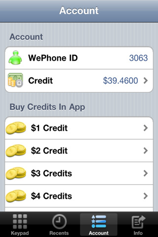 WePhone - Phone Calls with Free Gifts