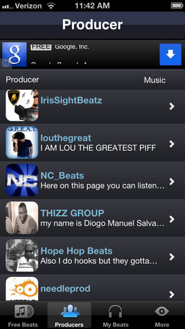 free rap beats music downloads 1 0 app for ipad iphone music app by. Black Bedroom Furniture Sets. Home Design Ideas