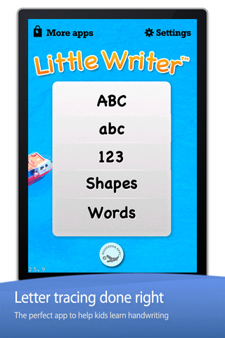 Little Writer - Tracing Letters Numbers Words and Shapes