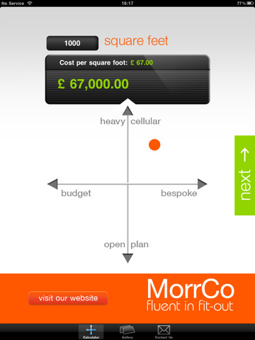 Morrco Office Space Calculator App For Ipad Iphone
