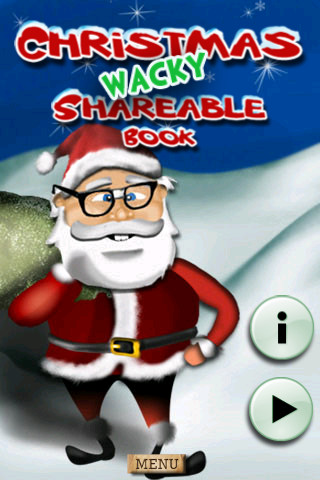 Christmas Shareable Book - Wacky Version - The Coolest Interactive Story Greeting Book HD book cataloging app