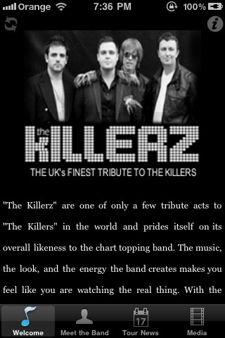 The Killerz App, the uk`s finest tribute to The Killers time killers videos