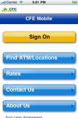 CFE Federal Credit Union Mobile Banking 1.4 App for iPad ...