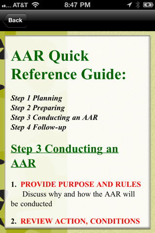 Army after action review pdf for Military after action review template