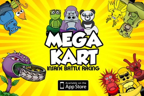 Mega Kart Madness Battle Racing Game