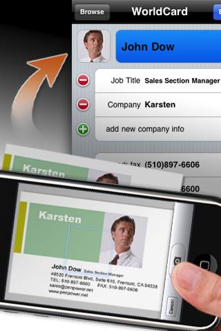 WorldCard Mobile Lite - business card reader & business card scanner business card printing