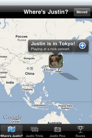 Where is Justin? A Justin Bieber Fan App for the iPhone justin bieber songs
