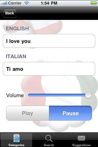 Italian English Translation