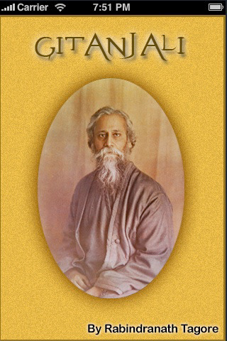 rabindranath gitanjali Rabindranath tagore (1861-1941)  gitanjali: song offerings (1912), the most acclaimed of them, contains poems from other works besides its namesake.