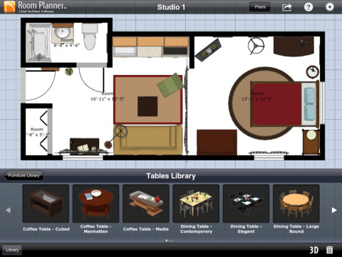 Room planner by chief architect app for ipad iphone for Room organizer app