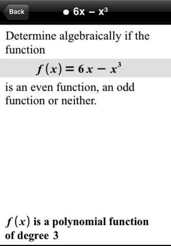 Polynomials - Even and Odd Functions reference letter examples