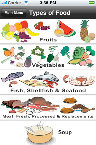 iNutrition ~ Fruits, Meat, Seafood, Soup and Vegetables fresh seafood meat market